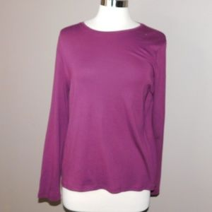 Talbots Long Sleeve Solid T-Shirt
